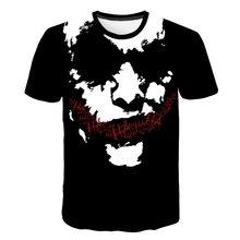 2019 Vendita Calda Joker 3D Stampato T Shirt Uomo Donna SI Pagliaccio Film Horror casual Divertente T-Shirt Hip Hop Streetwear T Shirt Tee Magliette e camicette(China)