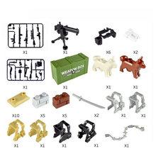 100 pçs mini militar cidade arma armas pacote blocos de construção do exército compatível legoing arma série tijolos brinquedos para crianças(China)