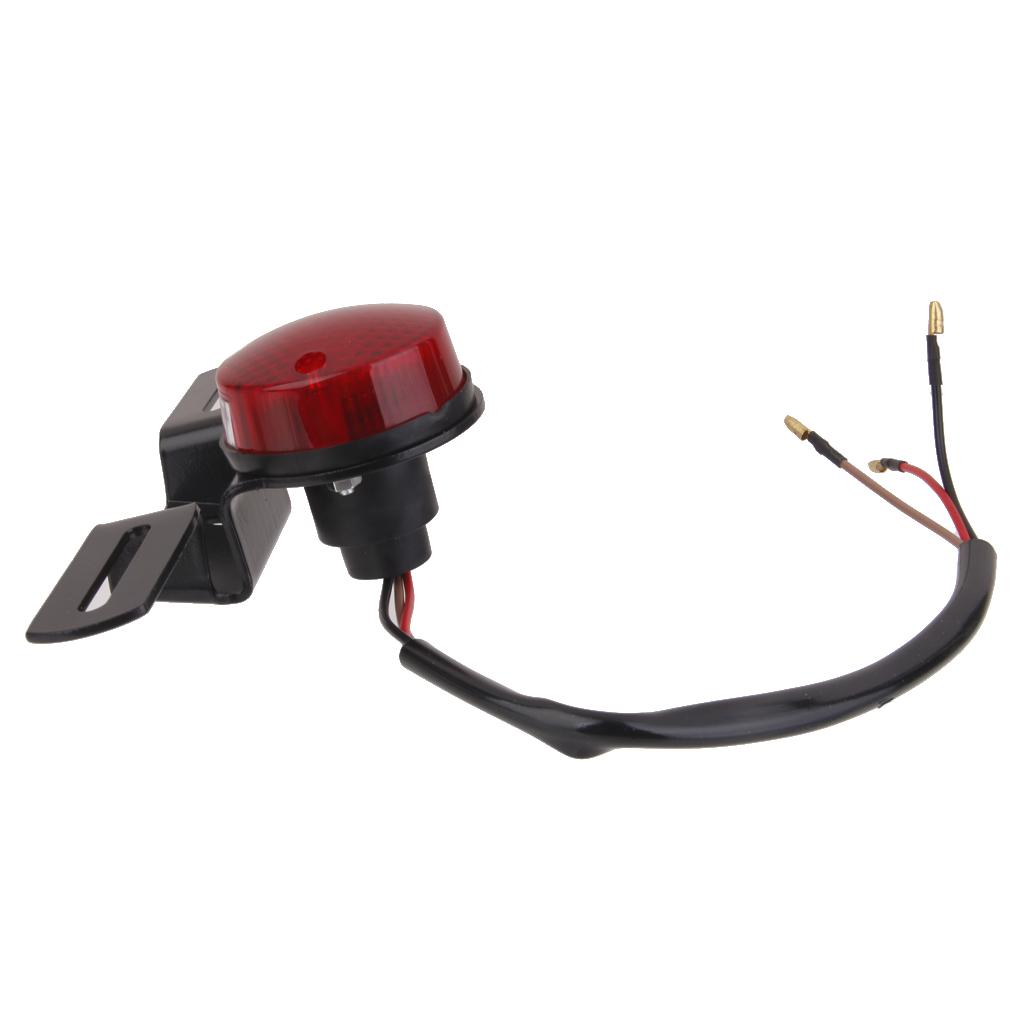 1 Pcs Motorcycle Red Rear Tail Brake Stop Light Lamp For Cafe Racer Chopper Motorcycle Street Biker Cuiser Dirt Bike ATV Etc