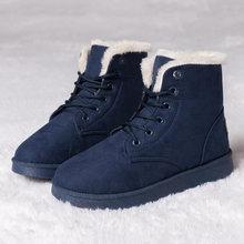 2019 Kış çizmeler kadın ayakkabıları Kadın Ayakkabı Moda yarım çizmeler Kadınlar Için Patik Sıcak Peluş Kar Botları Kırmızı Çizme P Boyutu 42 43(China)