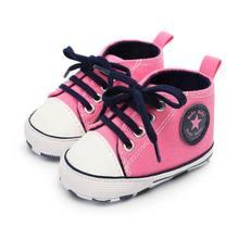 ראשון הליכונים יילוד ילדה ילד רך בלעדי פעוט בעריסה פסים Sneaker ספורט כותנה PU נעליים מזדמנים 0 -18 M(China)