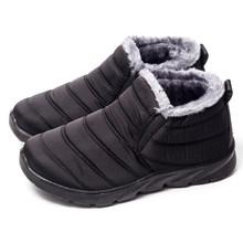 2019 Kış Kar Botları Kadınlar Yeni Sıcak Kısa Peluş Kürk Süet bileğe kadar bot Artı Boyutu Kadın Kayma Düz Rahat anne ayakkabısı(China)