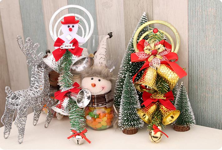 50 un Mezclado Color Campanas Campanillas Encantos Colgantes Cuentas 6mm Navidad 3D