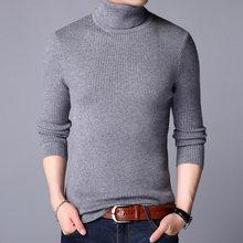 남성 풀오버 옴므 2020 터틀넥 솔리드 컬러 긴 소매 니트 스웨터 탑 남성 스웨터 솔리드 컬러 저지 Hombre Cuello Alto(China)