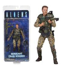 7.2 polegada 18 centímetros Aliens vs Predator NECA Sargento Craig Windrix Xenomorph Guerreiro Action Figure Modelo Toy Boneca(China)