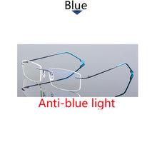 Высококачественные бескаркасные очки для близорукости, анти-синий светильник, очки по рецепту 0-0,5-1-1,5-2-2,5-3 -4 -5 -6(Китай)