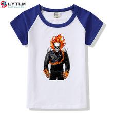 Camisa Ghost Rider Nicolas Cage LYTLM Camiseta Super hero Camisa Marvel Super hero Impressão Meninos Camisetas Meninas do Aniversário Das Meninas camisas(China)