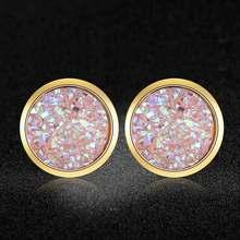 AAAAA Qualität 100% Edelstahl Shinning Stern Harz Stud Ohrring für Frauen Party Ohr Studs Schmuck Großhandel Dropshipping(China)