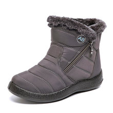 Knöchel Stiefel Für Frauen Stiefel Pelz Warme Stiefel Schnee Weibliche Winter Schuhe Frauen Wasserdicht Gepolsterte Stiefel Winter Booties Frauen Schuhe(China)