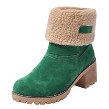 Yüksek topuklu platformu takozlar ayakkabı kadınlar için 2019 kadın Bayanlar Kış Ayakkabı Akın Sıcak Botlar Martin Kar Botları Kısa bootie # smt(China)