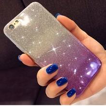 Gradient Glitter Weichen Fall für Huawei P9 P10 P20Lite P20 P8 Lite 2017 Ehre 7A 7C 7X7 S 8 9 ansicht 10 Nova 3 3i P Smart + Plus Abdeckung(China)