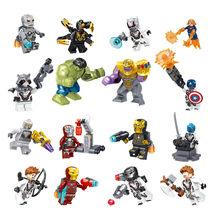 8 pz/set The Avengers Heroes Building Blocks Kit Hulk e Captain & Thor e Iron-man legoinglys Modello Assemblare mattoni Giocattoli Per I Bambini(China)