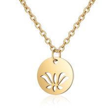 316L Nam Dây Vòng Cổ Vàng Nữ Choker Trang Sức 40cm + Thiên Thần Lông Lotus Luân Xa Trái Tim Ngôi Sao Fatima Không Bao Giờ thay đổi(China)