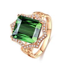 KOFSAC Occident 925 Серебряное кольцо для женщин ювелирные изделия Роскошный Кристалл зеленый квадратный геометрический Cz Золотое кольцо женские а...(China)