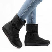 ฤดูหนาวรองเท้าข้อเท้ารองเท้าสำหรับรองเท้าบู๊ทหิมะอบอุ่นกันน้ำ Down สุภาพสตรีแพลตฟอร์มรองเ...(China)