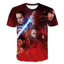 Di modo star wars Maglietta Delle Donne Degli Uomini di T-Shirt 3D Stampa star Wars Movie Tee shirts casual T di Estate Della Camicia Magliette e camicette di Marca abbigliamento(China)