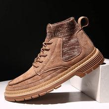 2019 outono novos homens botas de flanela de alta qualidade homens botas de inverno de alta qualidade botas de trabalho(China)