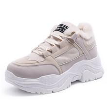 Fujin Nữ Giày Mùa Xuân, Mùa Thu Sneaker Thoáng Mát Cho Nữ Giày Nữ Buộc Dây Giày Bốt Nữ Comrfortable Nền Tảng Giày Nữ(China)