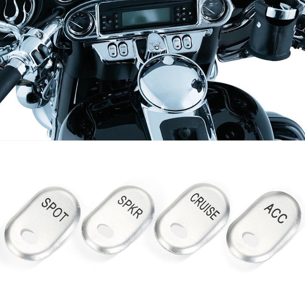 Motorcycle Brushed Rocker Switch Cover Replacement For  FLHTCU FLHTK FLHTCUSE FLT