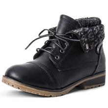 STQ 2019 Neue Winter frauen Stiefeletten Schuhe Aus Echtem Leder Lace Up Plattform Stiefel Frau Warme Plüsch Schnee Stiefel frauen 1802(China)