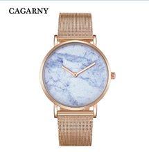 Relojes creativos de moda para mujer, reloj de cuarzo para hombre, pulsera de acero de oro rosa, relojes de pulsera para mujer, reloj ultrafino resistente al agua(China)