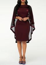 Женское шифоновое платье большого размера 5XL, элегантное платье-накидка с рукавами для свадебной вечеринки, весна-лето 2020(China)