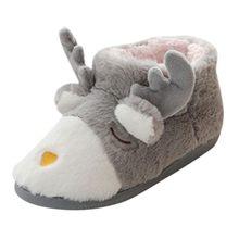 Warm Winter Slippers Indoor Home Mute Cute Soft Plush Ball Women Interior Boots(China)