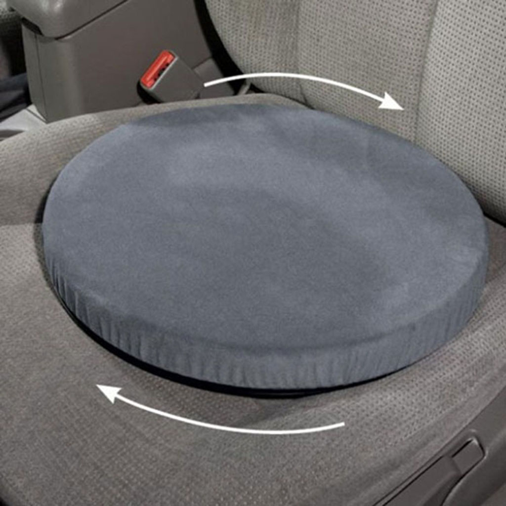360° Rotation Swivel Seat Cushion, Foam Cushion for Car Home Office Chair Wheelchair, for Relieve Back Hip Tailbone Pain