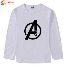 LYTLM الأعجوبة التي شيرت الأولاد المنتقمون 4 Endgame الاطفال ملابس للفتيات 9 Camisetas الفتيان طويلة الأكمام الشتاء قمم الخريف 2019 الاطفال قميص(China)