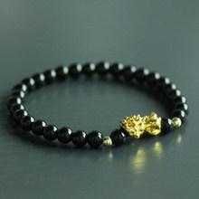 Mcllroy masculino pulseira 6mm pedra natural contas pixiu pulseira charme sorte pulseiras & pulseiras homme masculino jóias pulsera hombre(China)