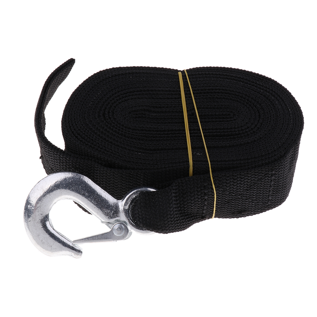 Boat Winch Trailer Replacements Webbing Strap with Heavy Duty Hook 7m x 50mm