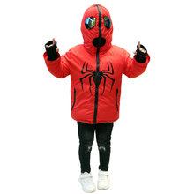 Doble cara Carton Wear chaqueta de invierno para niño 5 6 7 8 9 10 11 12 13 años Abrigos con piel invierno Niño chaqueta caliente abrigo(China)