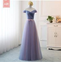 Сексуальные шифоновые длинные платья подружки невесты для свадебной вечеринки с V-образным вырезом Модные платья на одно плечо(China)