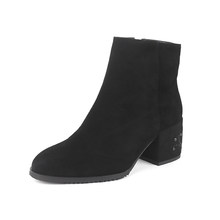 SOPHITINA Wolle Pelz Stiefeletten Hohe Qualität Kid Suede Platz Ferse Spezielle Design Frau Schuhe Zipper Handmade Winter Stiefel SC209(China)