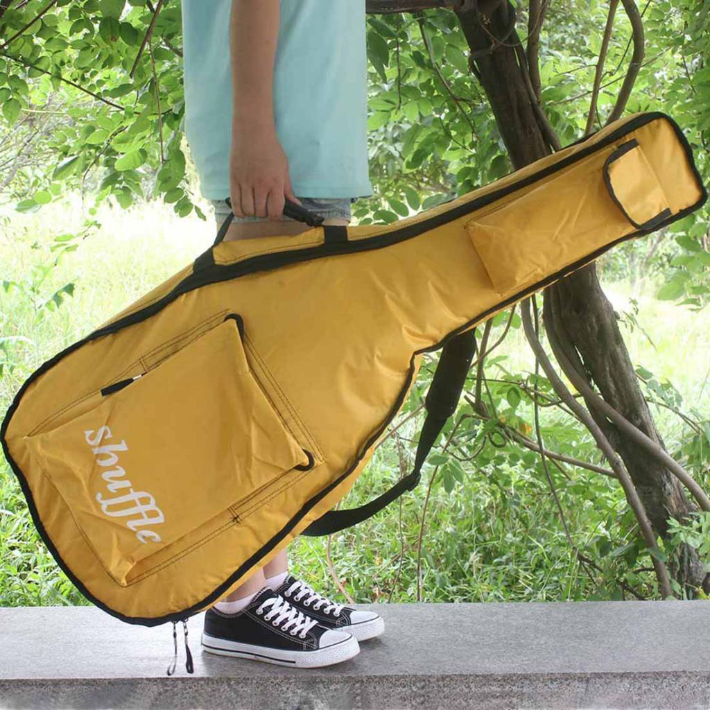 41 Inch Portable Oxford Fabric Acoustic Guitar Gig Bag Soft Case Guitar Waterproof Backpack
