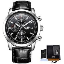 2019 LIGE nouvelle mode hommes montres analogique Quartz montres 30M étanche chronographe sport Date en cuir montres Montre Homme(China)