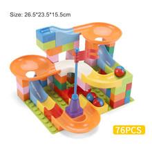 Besar Partikel Blok Bangunan Marble Race Run Blok Kompatibel Legoinglys Corong Geser Blok DIY Batu Bata Mainan untuk Anak(China)