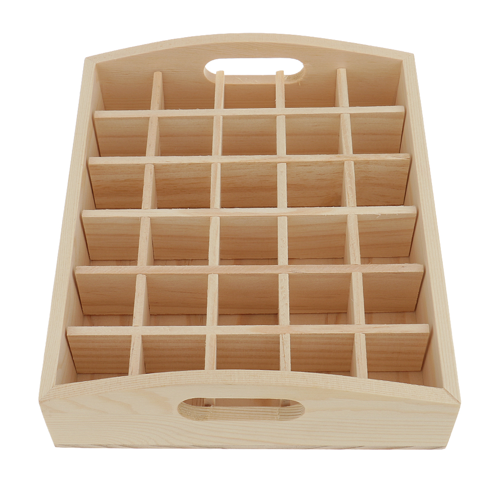 2Pcs Wooden Essential Oil Bottle Storage Box Display Case Stand Holder Perfume Makeup Aromatherapy Vials Organizer Shelf