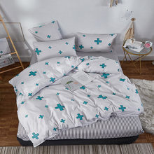 Alanna fashion bedding set Pure cotton A/B double-sided pattern Simplicity Bed sheet, quilt cover pillowcase 4-7pcs(China)