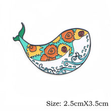 P3797 Dongmanli אופנה ואן גוך אמייל פין אוסף אמנות שמן ציור סיכות לנשים דש סיכות תג תכשיטי צווארון(China)