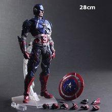 Filme vingadores jogar arte kai figura de ação capitão americano sipderman viúva negra ironman batman x-men o flash figuras de brinquedo boneca(China)