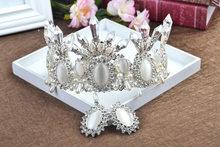 HIMSTORY surdimensionné noir Baroque Royal diadèmes couronne nouveau luxe grand européen magnifique cristal reine mariage cheveux accessoires(China)