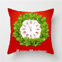 Новогодние рождественские украшения для дома, снежный декор для украшения дома, аксессуары для дома, Рождественский чехол для подушки с при...(China)