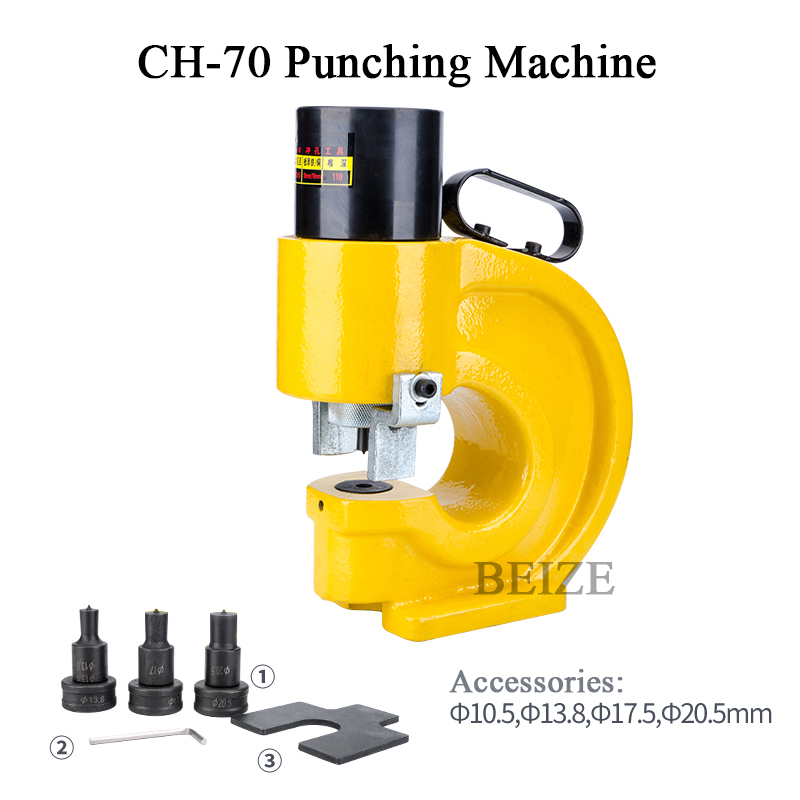 CH-60 Hydraulic Knockout Punch Hole Punching Machine 31 Ton Max 10mm Thickness