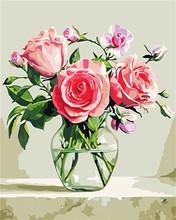 AZQSD картины по номерам DIY Современная Живопись Маслом Дерево Рука Краска Холст Картина Украшения Дома Цветок(Китай)