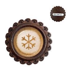 Caffè Latte Intagliare Del Cuore di Amore di Arte 20 millimetri di Vetro Cabochon Spille di Legno di Cioccolato di Stampa di Quattro Foglie di Trifoglio Fascino del Gatto Collare spilli(China)
