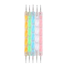 5 шт. набор 2Way использование точечная ручка дизайн ногтей краска акриловая ручка инструменты для маникюра краски ручка для гелевых украшени...(China)