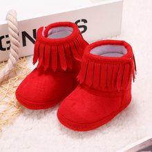 سوبر الدافئة الوليد الطفل بنات الأميرة أحذية الشتاء الأولى مشوا المضادة للانزلاق الرضع طفل طفلة الأحذية الأحذية(China)