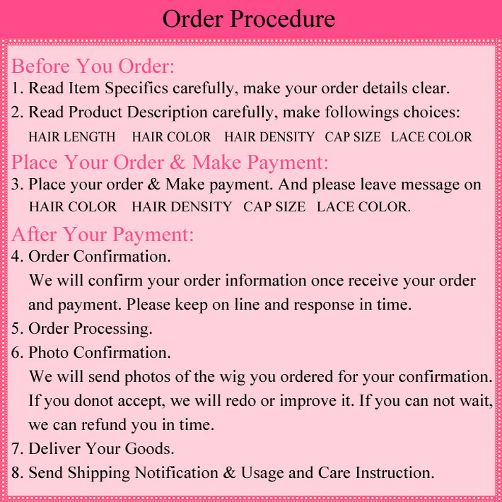 Wiggie 2Order Procedure