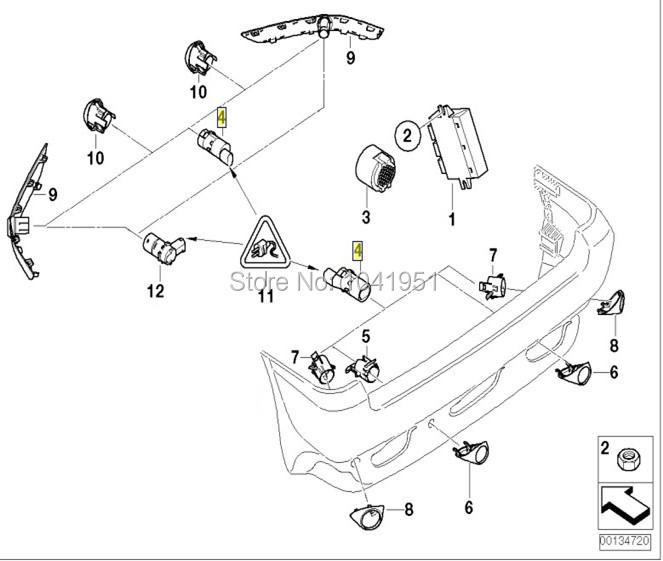 new pdc sensor for range  rover  land  rover sport 2005